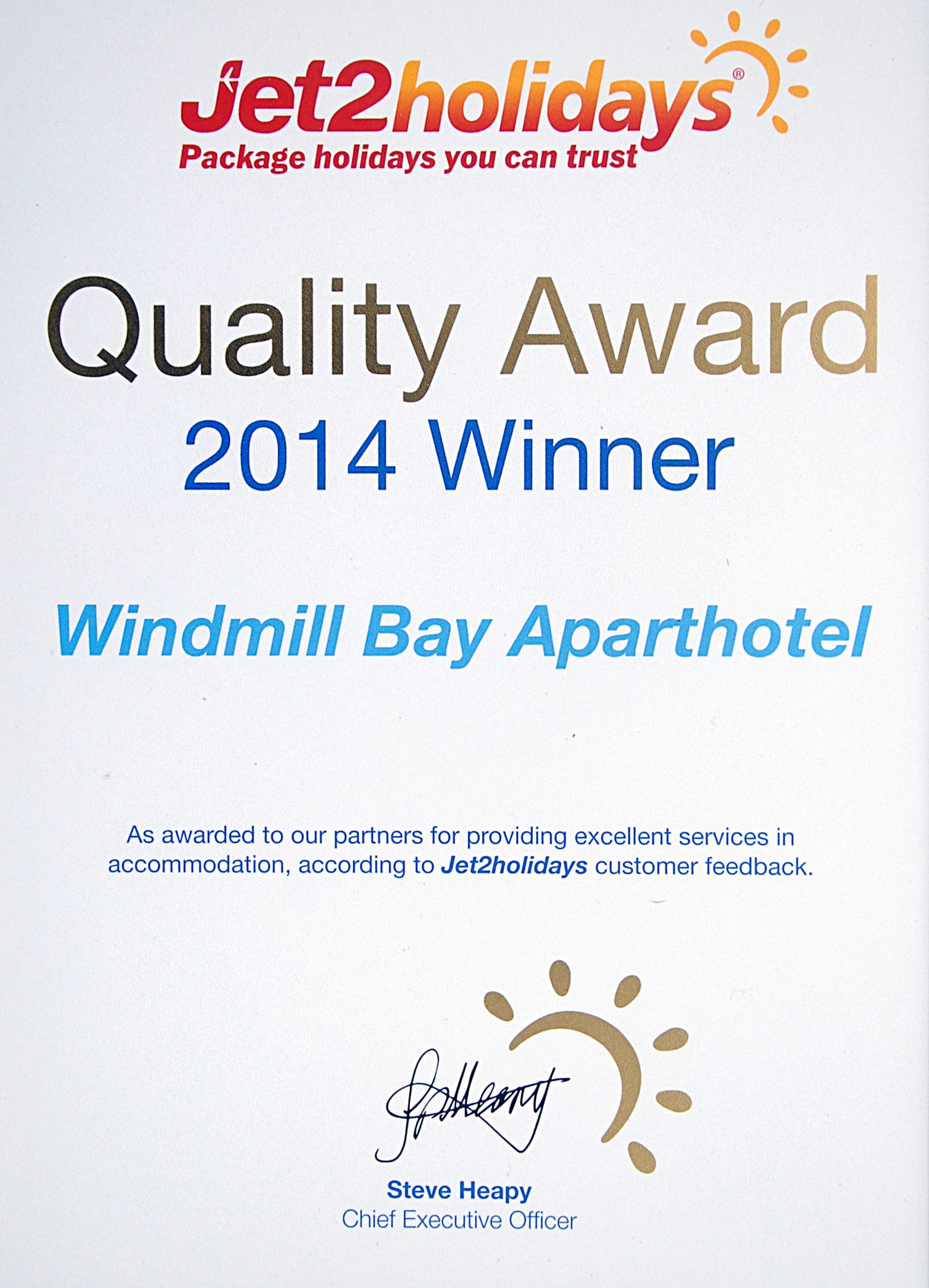 jet2holidays-windmill-bay-award